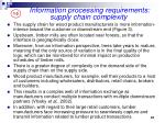 information processing requirements supply chain complexity