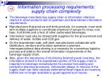 information processing requirements supply chain complexity2