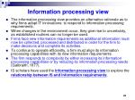 information processing view