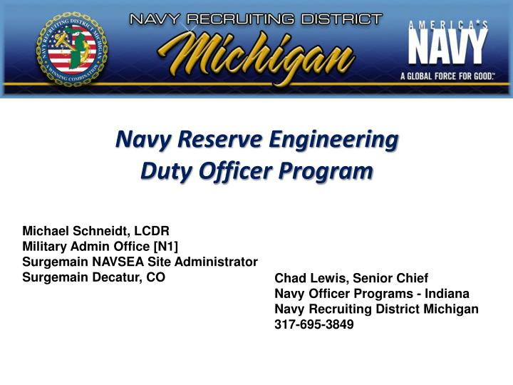navy reserve engineering duty officer program n.