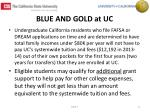 blue and gold at uc