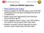 california dream application