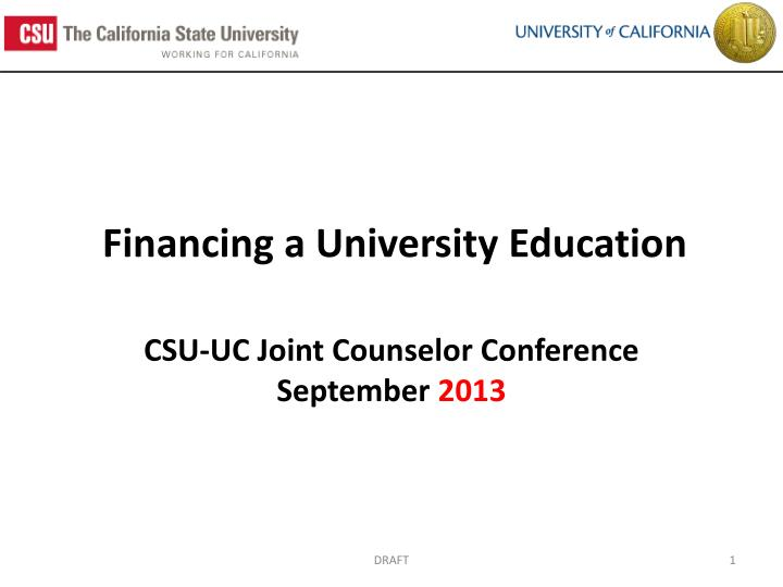 financing a university education n.