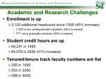 academic and research challenges