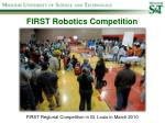 first robotics competition1