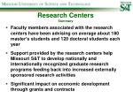 research centers summary