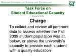 task force on student educational capacity formed in 9 09