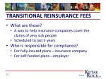 transitional reinsurance fees