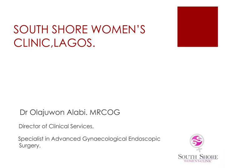 south shore women s clinic lagos n.