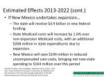 estimated effects 2013 2022 cont
