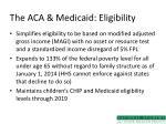 the aca medicaid eligibility