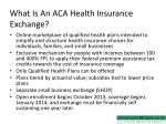 what is an aca health insurance exchange