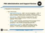 fra administrative and support review44