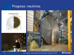 progress neutrinos1