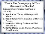 what is the demography of your community chapter