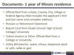 documents 1 year of illinois residence1