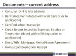 documents current address