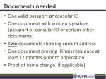 documents needed