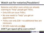 watch out for notarios fraudsters