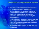 reduction of crewmembers amount