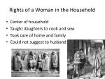 rights of a woman in the household