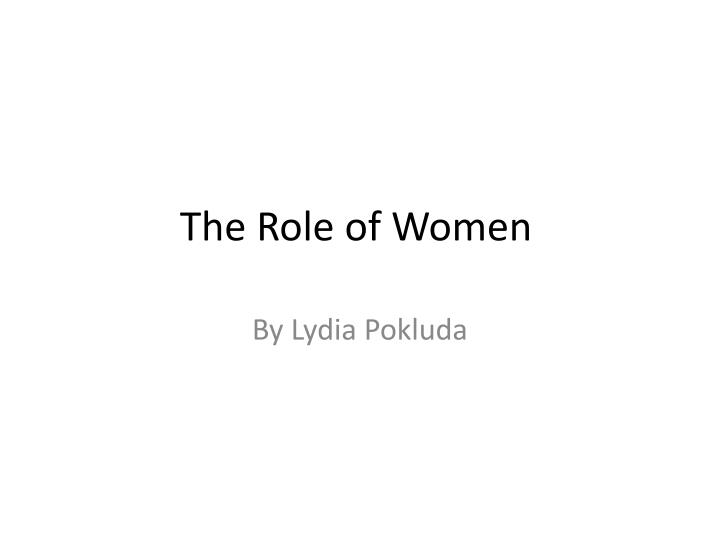 the role of women n.