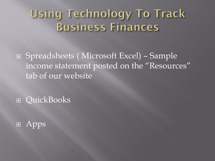 Using Technology To Track Business Finances