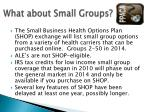 what about small groups