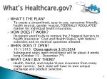 what s healthcare gov