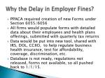 why the delay in employer fines