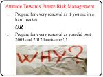 attitude towards future risk management