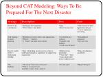 beyond cat modeling ways to be prepared for the next disaster