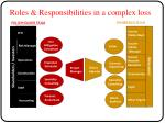 roles responsibilities in a complex loss