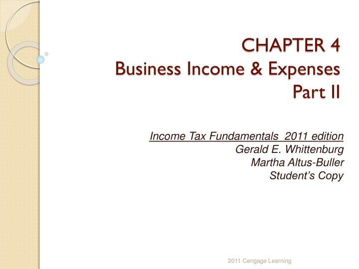 chapter 4 business income expenses part ii n.