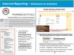 external reporting disclosure to investors