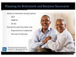 planning for retirement and business succession