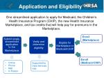 application and eligibility