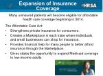 expansion of insurance coverage