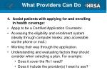 what providers can do1