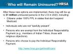 who will remain uninsured
