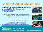 2 current state of driverless cars