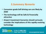 5 summary remarks