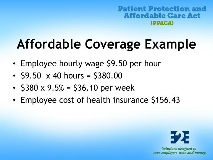 Affordable Coverage Example