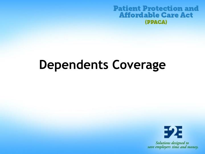 Dependents Coverage