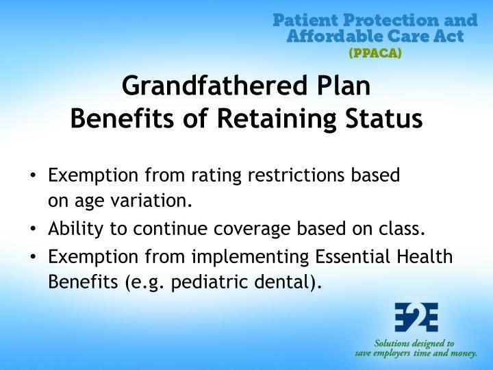 Grandfathered Plan