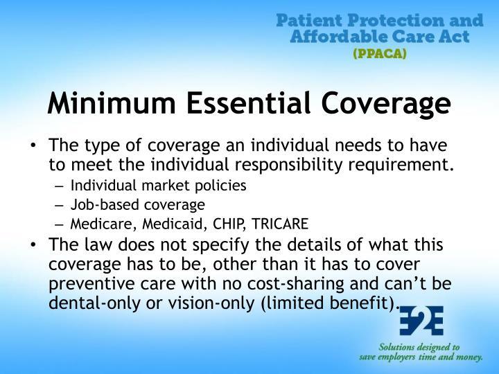 Minimum Essential Coverage