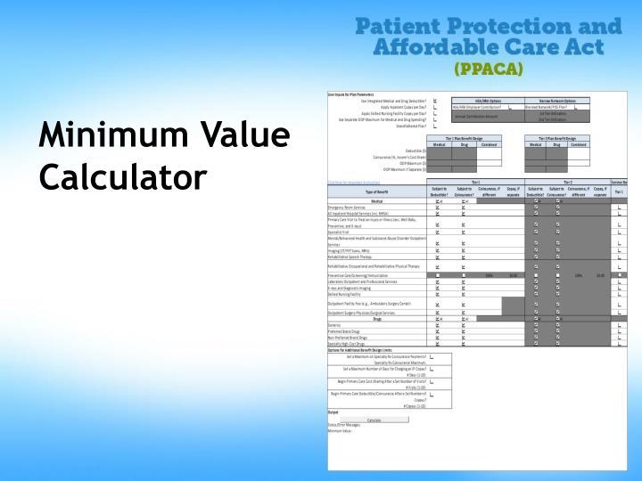 Minimum Value Calculator