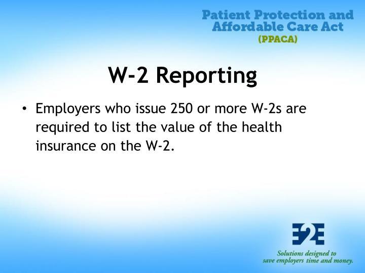 W-2 Reporting