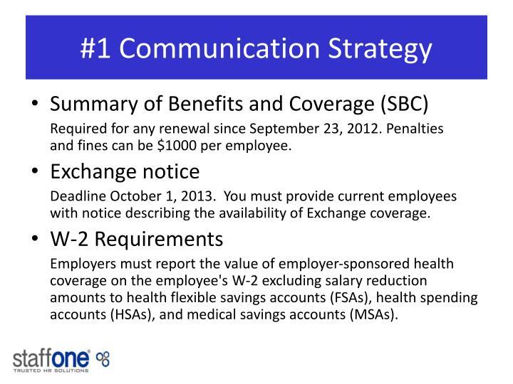 #1 Communication Strategy