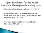 open enrollment for the health insurance marketplace is ending soon